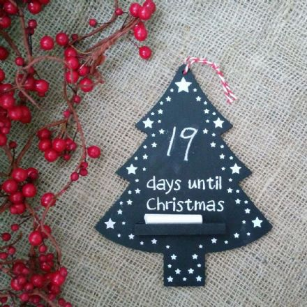 50% off Hanging snowy Christmas Tree Chalkboard